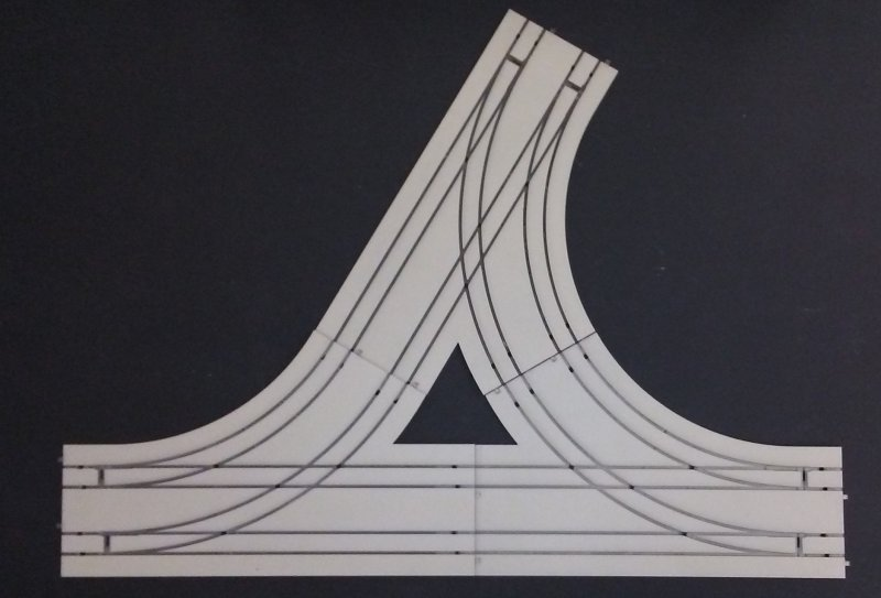 photo regarding Printable N Scale Track Template named Highway observe for trolleys and trams Webpage 1 of 1