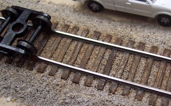 N scale track spikes do